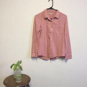 Old navy pink button-down shirt size small